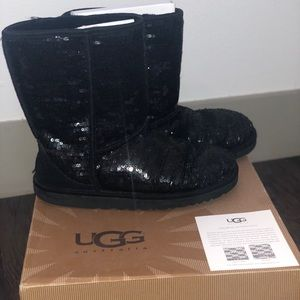 Black Sequence UGG Boots